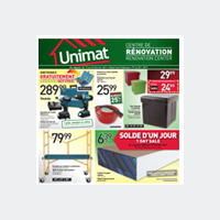 Circulaire Unimat Circulaire - Flyer - Catalogue